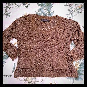 Costa Blanca Boxy Crochet Sweater